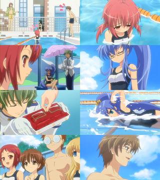 泳げない秋姫すもも。一方、水泳が実は得意だったノナ