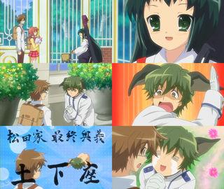 ノナの見舞いに来たすもも、石蕗、ナコ。石蕗が飲んだ怪しいジュースは松田のものだった。松田土下座