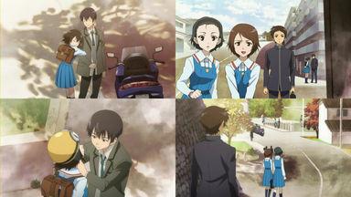 眞一郎は、乃絵が男(石動純/いするぎじゅん)のバイクに乗るのを見かけてしまう