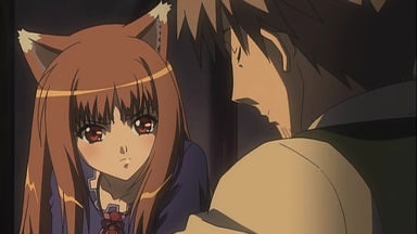 狼と香辛料第3話 銀貨の名前を覚えようとするホロ