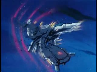 第19話。柿崎少尉、ファイターへの変形が遅れて戦死。「ミディアムでサーロイン特大のお客様」