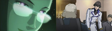 バジュラの巣または前進基地がありそうなので調査を主張するレオン・三島。それを盗聴するグレイス