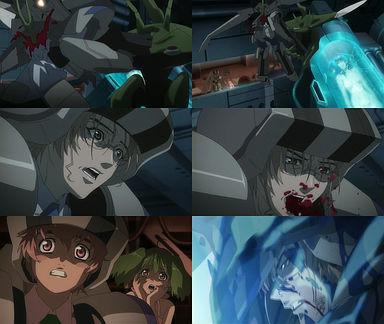 ミハエルがバジュラに刺される