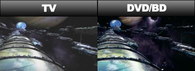 マクロスFの宇宙空間