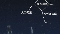 ペガスス座と人工衛星
