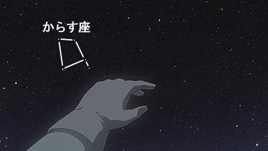 冬の南の空(からす座) 川村秋菜のシンチレーション