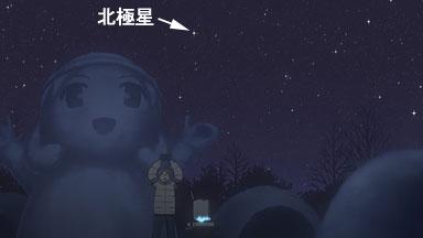 冬の北の空(北極星)